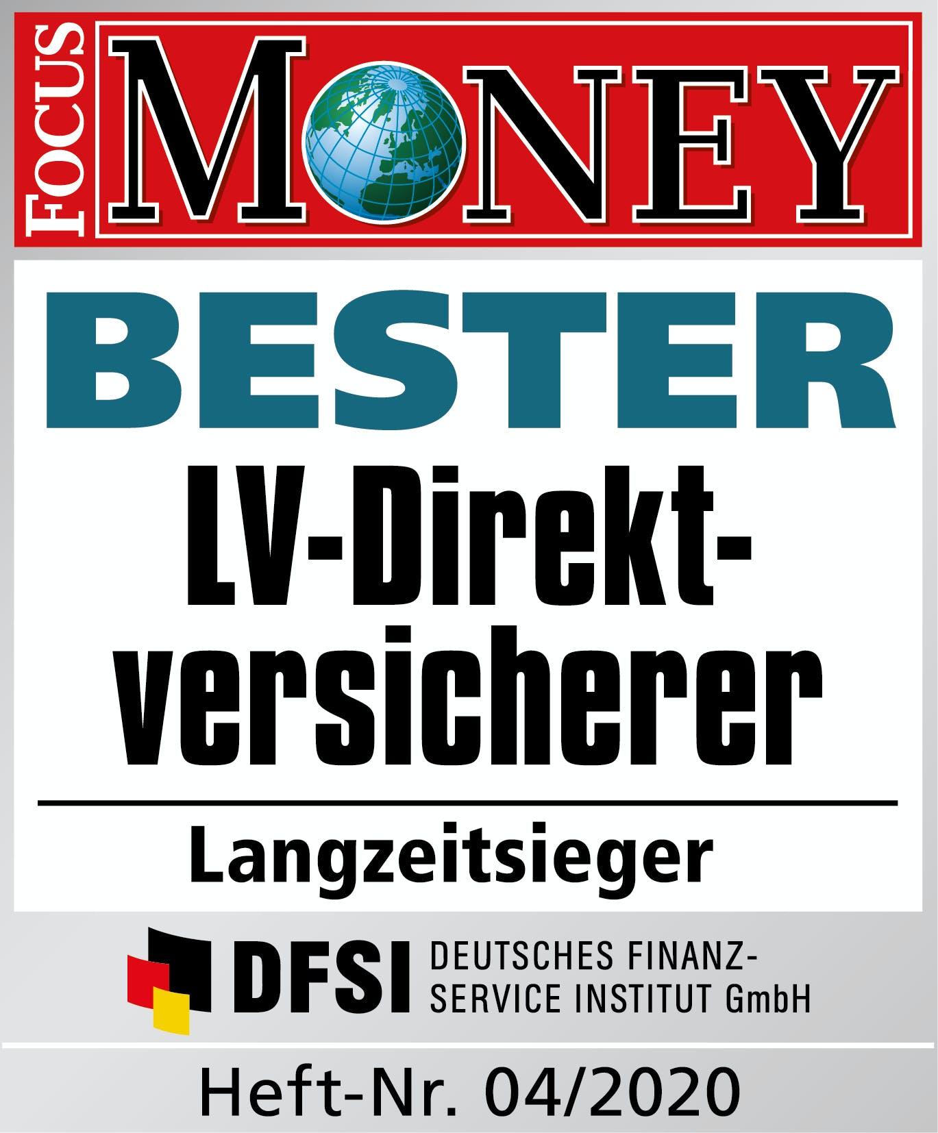 Focus Money LV-Direktversicherer Langzeitsieger