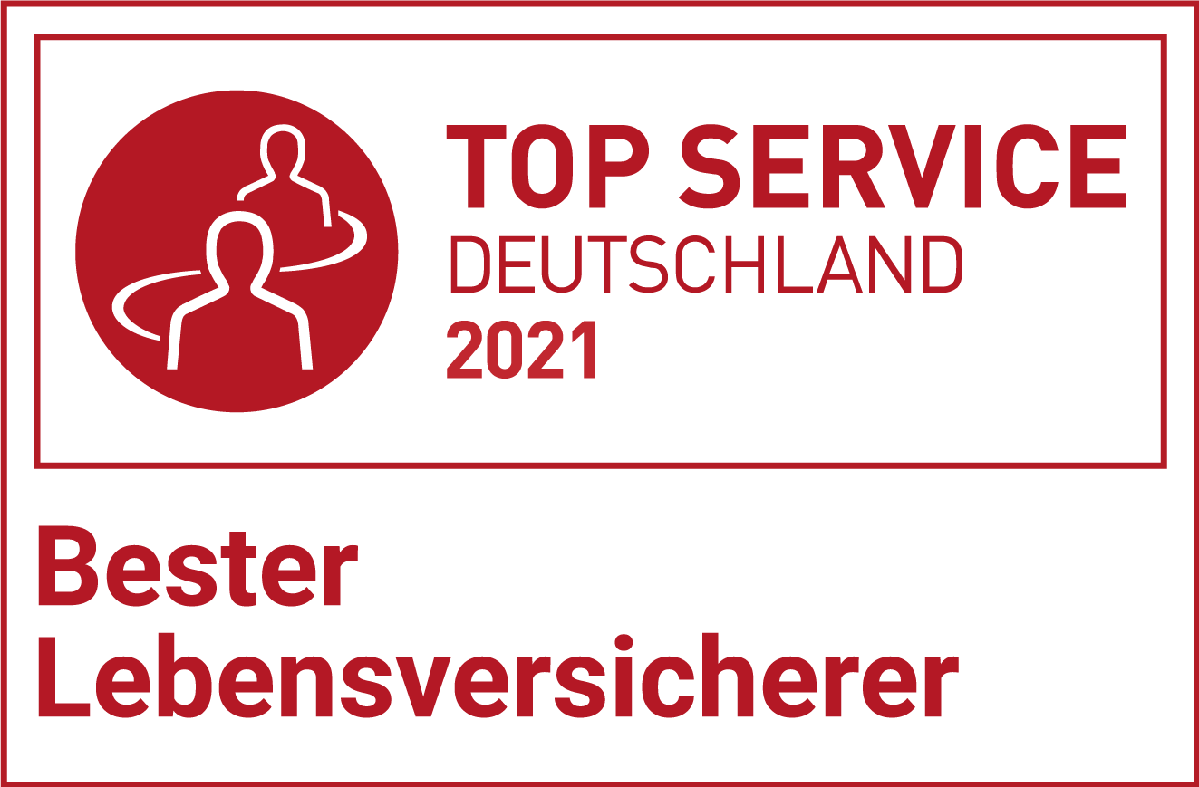Bester Lebensversicherer, Top Service Deutschland 2020, Test Signet
